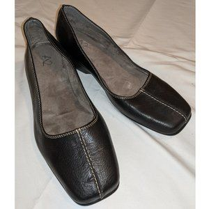 A2 Black Leather Slip Ons